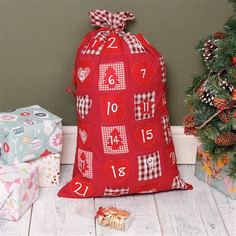 Patchwork Advent Calendar - festive patchwork advent calendar sack by dibor