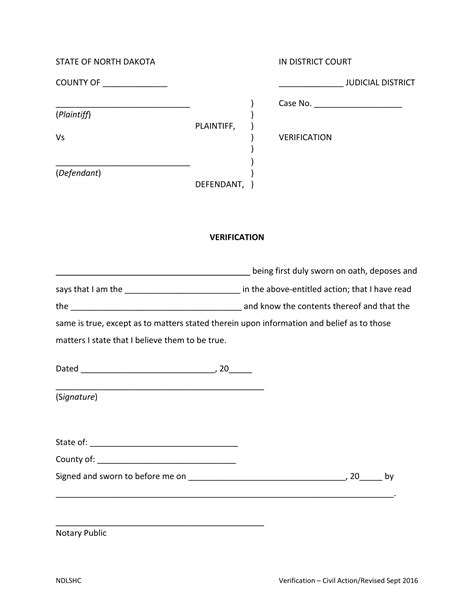 notary verification form definition
