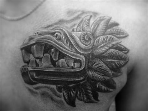 aztec dragon tattoo aztec serpent on chest jpg 1024 215 768