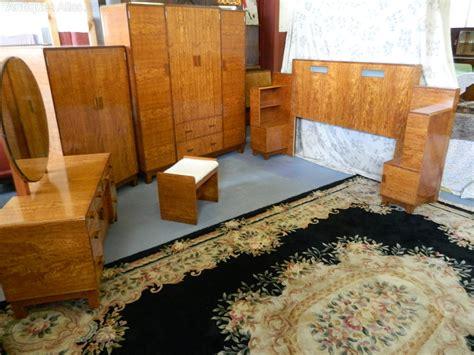 Deco Bedroom Suite For Sale by Heals Deco Satinwood Bedroom Suite Antiques Atlas