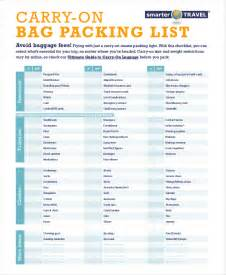 carry on luggage checklist pictures inspirational pictures