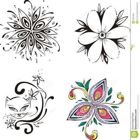 immagini fiori stilizzati fiori stilizzati illustrazione vettoriale immagine di