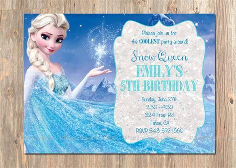 frozen birthday invitations frozen birthday invitation elsa frozen invitation printable