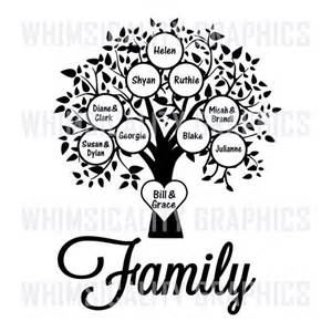 draw a family tree template digital file family tree blank template with svg dxf png