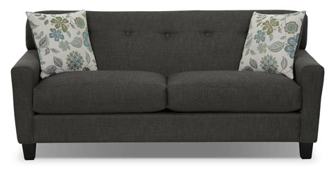rent to own sofa aubrey linen look fabric sofa loveseat charcoal