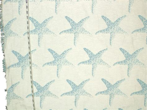 starfish upholstery fabric starfish fabric blue star fish reversible upholstery