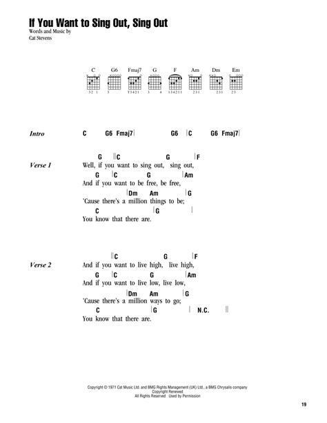If You Want To Sing Out Sing Out Sheet Music Direct