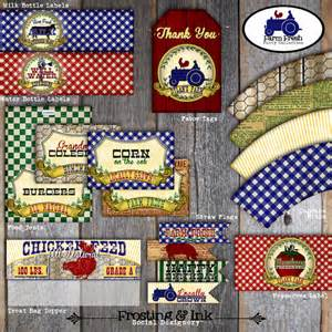 Barnyard Birthday Favors by Farm Barnyard Birthday Favor Tags A La Carte