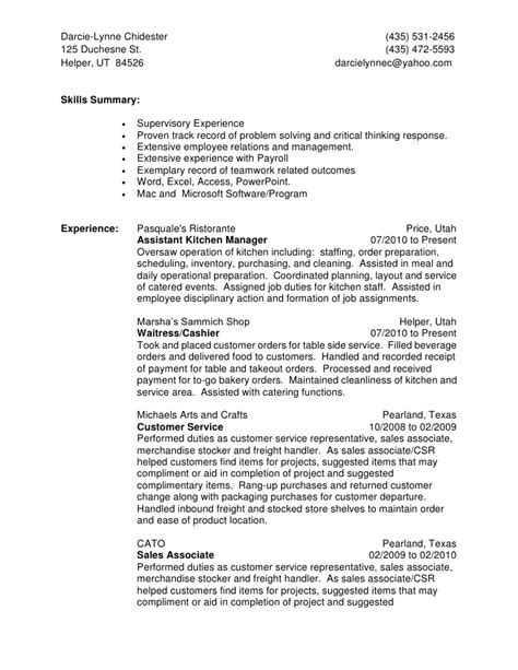 best inventory supervisor resume exle livecareer cashier resume sle u0026 writing guide