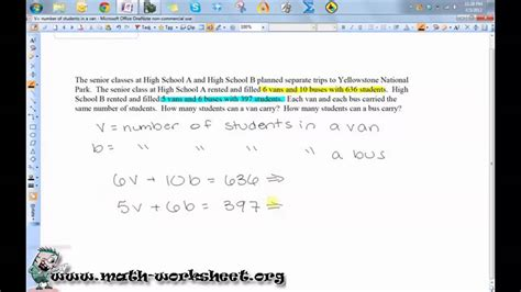 Inequality Word Problems Worksheet by Algebra Systems Of Equations And Inequalities Word