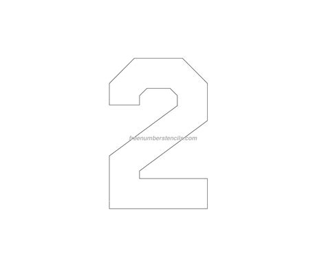 Printable Jersey Number Stencils | free jersey printable 2 number stencil