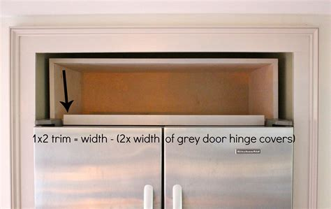 how to cover refrigerator with cabinet remodelaholic build a cabinet over the fridge