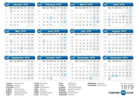 new year january 1979 calendar 1979