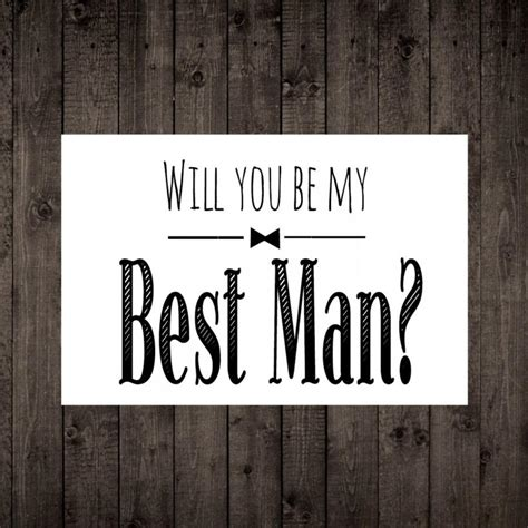 printable groomsman invitation will you be my best man printable wedding card best man