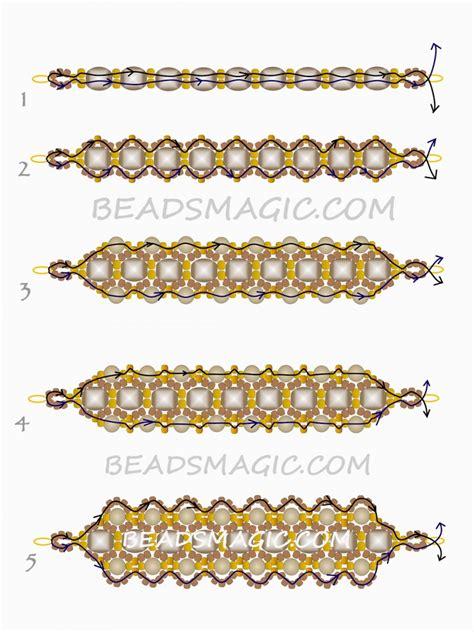 free bead patterns free beaded pattern for bracelet honey magic