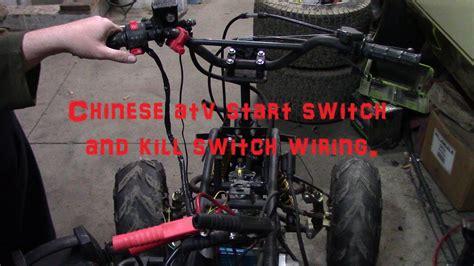 chinese atv start button  kill switch wiring youtube