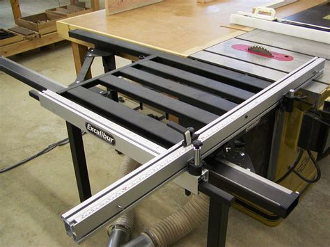 excalibur sliding table saw fence woodworking workshop jim draper