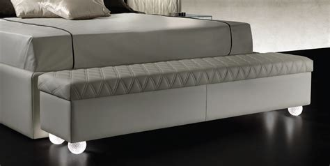 bench 2 bedside upholstered bedside bench with legs in murano glass rialto