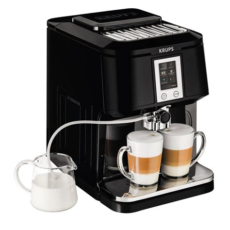 Krups Coffee Machine krups 2 in 1 espresso and cappuccino machine ea880851 the home depot