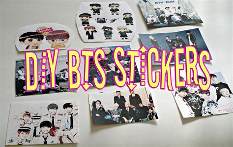 Wall Sticker Art Decor quick diy kpop bts stickers kpop collab youtube