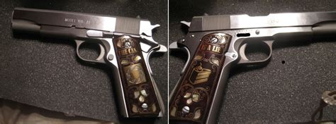 Handmade 1911 Grips - meme related custom 1911 grips