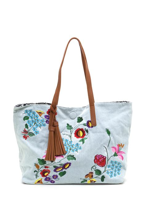 Embroidered Tote Bag decision maker woven embroidered tote denim ltdenim