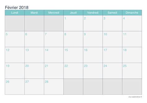 Calendrier Carnaval 2018 Calendrier F 233 Vrier 2018 224 Imprimer Icalendrier