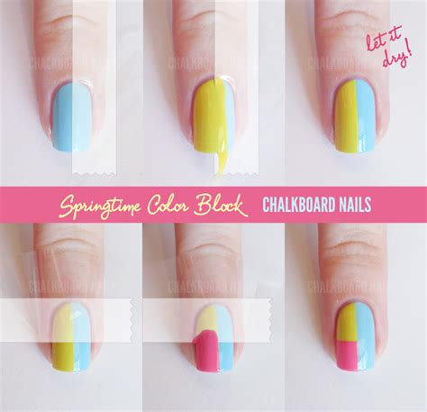 easy nail art with tape step by step step by step nail art tutorials