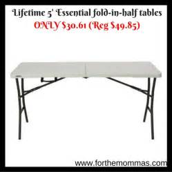Lifetime 5 Essential Fold In Half Tables Only 30 61 Reg