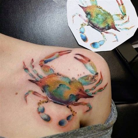 small crab tattoo 25 best ideas about crab on cancer