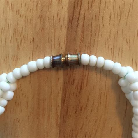 white seed bead necklace 56 jewelry black and white seed bead necklace from