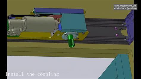 swing door mechanism detail installation for the automatic swing door opener