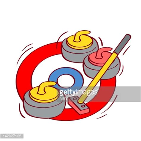 curling game sport royalty free cartoon cartoondealer illustration of a curling game stock illustration getty
