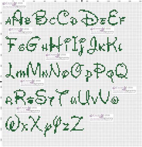 lettere alfabeto disney amorevitacrocette alfabeti disney a punto croce