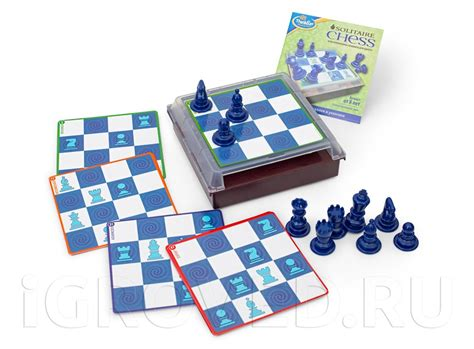 solitaire chess 174 thinkfun настольная игра головоломка шахматы для одного solitaire