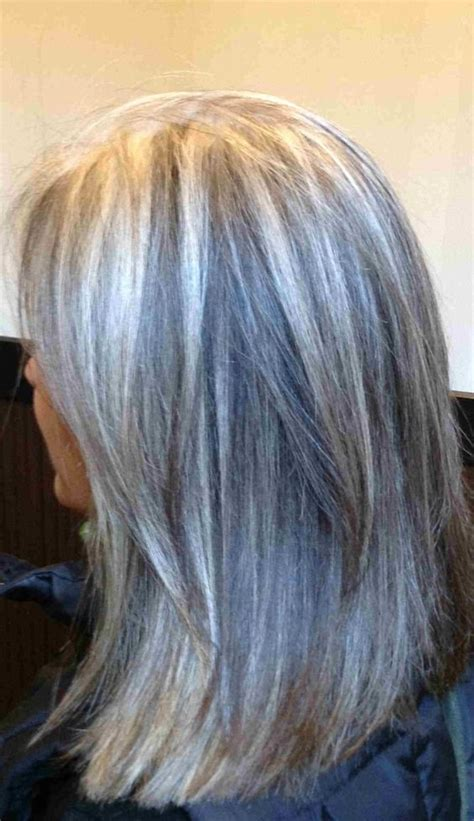 pictures of growing out gray hair well gray hair blonde highlights and camouflage on pinterest
