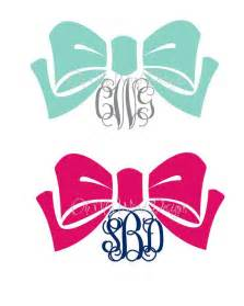 bow monogram bow monogram car decal by ohmyworddesigns on etsy 9 00 oh my word designs