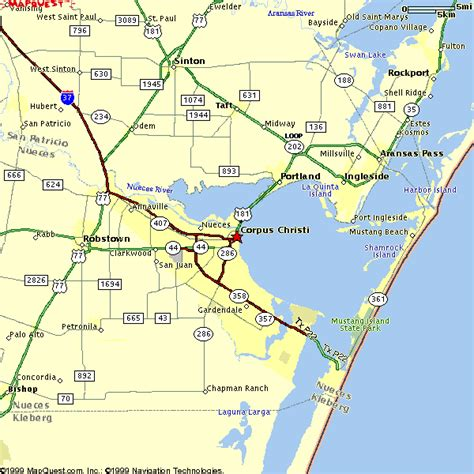 map of corpus christi texas corpus christi metro map toursmaps