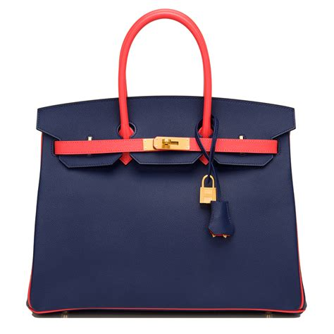 bi colors hermes birkin bag 35cm hss bi color blue sapphire and