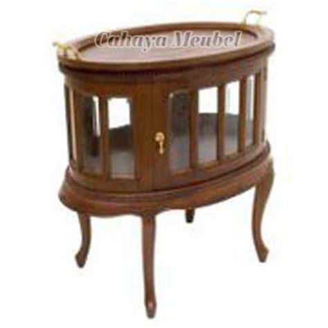 Bewell Jam Kayu 255 meja teh oval kayu jati jual meja teh minimalis kayu jati harga murah cahaya mebel jepara