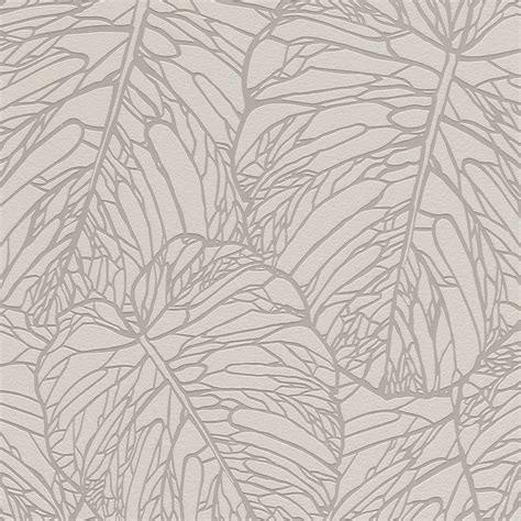 grey leaf pattern wallpaper leaf pattern wallpaper rasch taupe grey white yellow gold