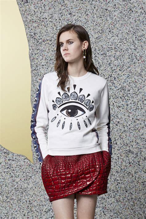 Eye White Sweater eye print sweatshirt kenzo