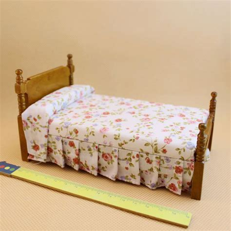 doll house bedroom aliexpress com buy 1 12 wooden dollhouse miniature bed bedroom furniture accessories
