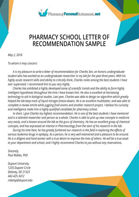 Recommendation Letter Pharmacist Letter Of Recommendation For Pharmacy School Writing Service Pharmacy Personal Statement