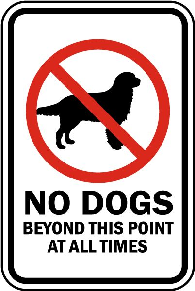 no puppies no dogs beyond this point sign f7587 by safetysign