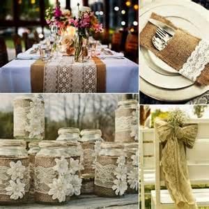 Handmade Wedding Decor - burlap and lace wedding decorations projects ideas
