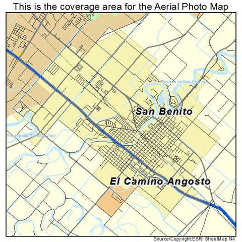 aerial photography map of san benito tx