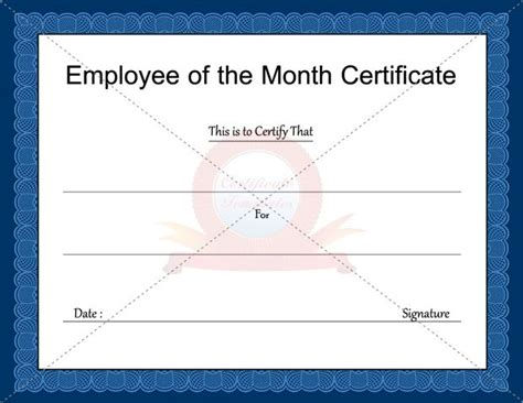 of the month certificate template 17 best images about business certificate templates on