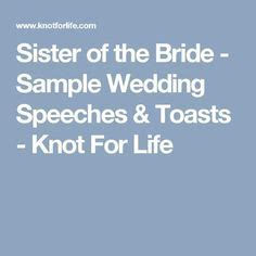 Maid of Honor Speeches for Big Sister   The Right Way to