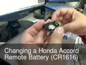 Honda Civic Remote Battery Changing The Remote Key Battery For A Honda Accord Maybe